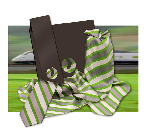 Bedruckte Schals und Krawatten Vossloh
