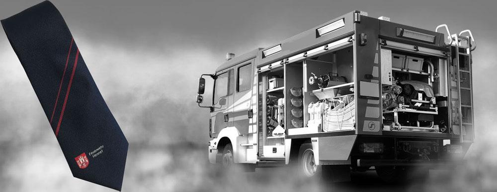 Feuerwehrkrawatten für die Feuerwehr Hennef