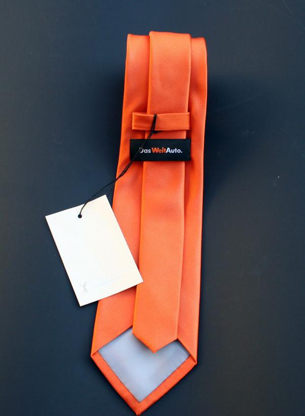 """Gewebte Seiden Krawatte mit Brandlabel """"DAS WELT AUTO"""""""