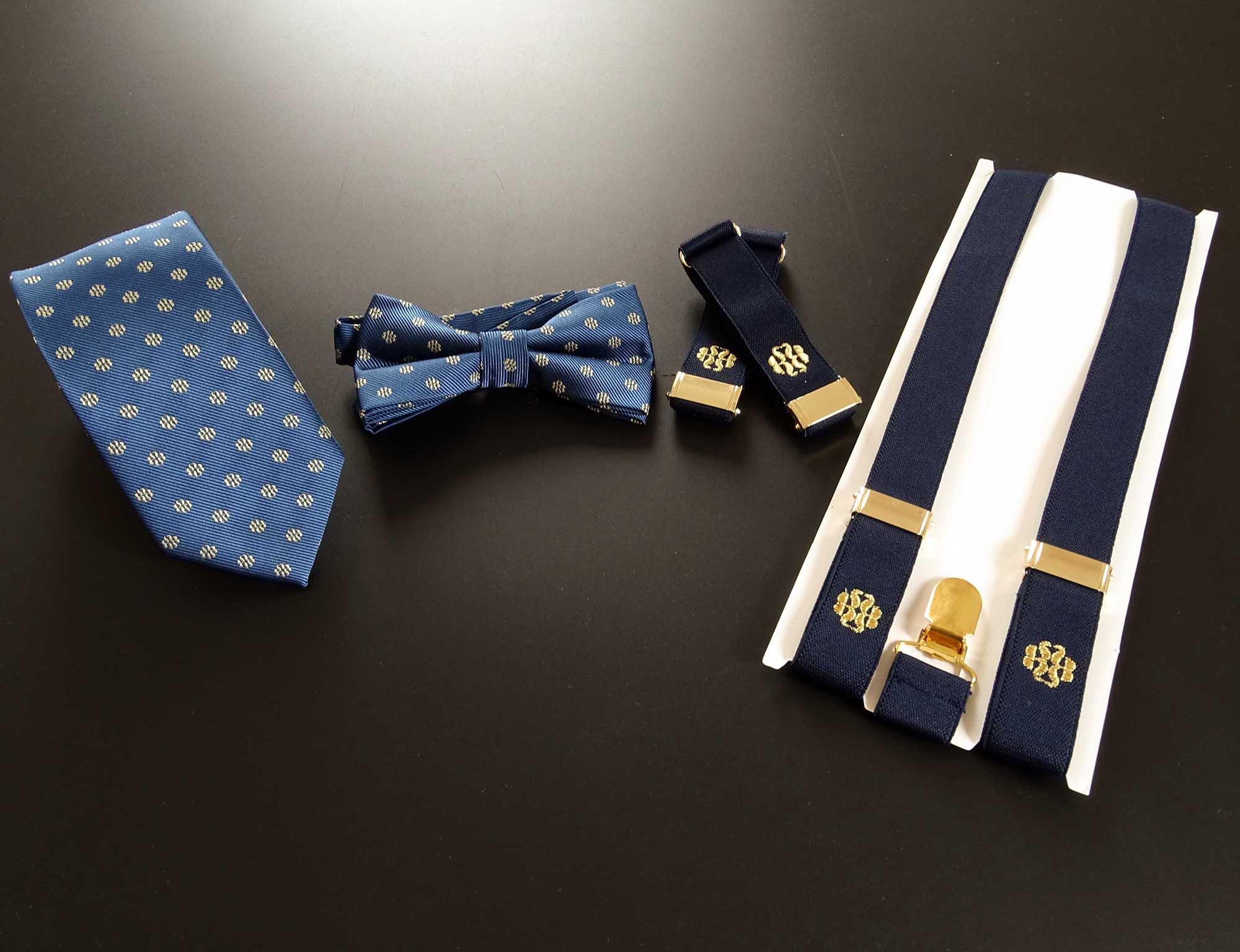 Royal Bliss, Fliege, Krawatte, Hemdenhalter und Hosenträger nach Maß