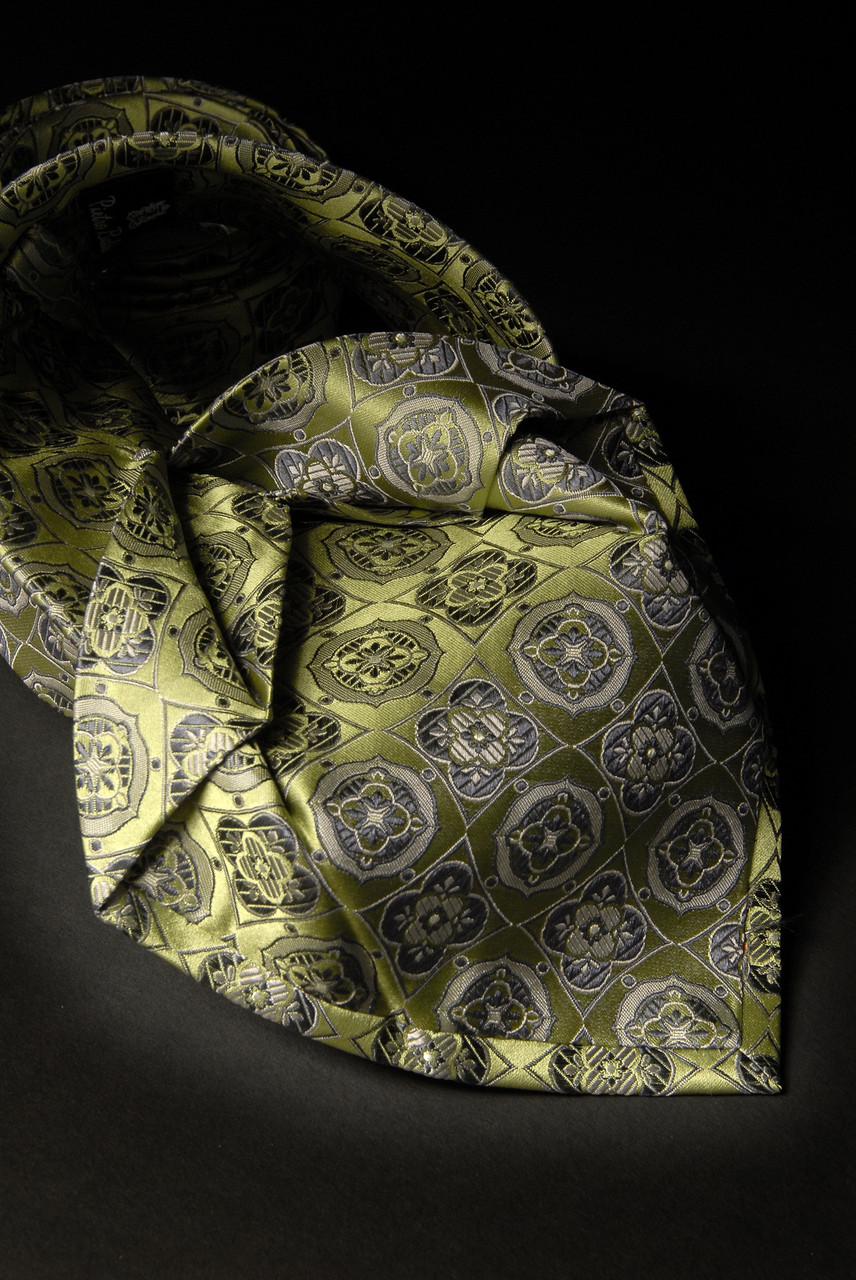 Sieben Falten Krawatte grün