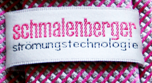 Gewebte Etikette für Kunden Krawatte in zwei Farben