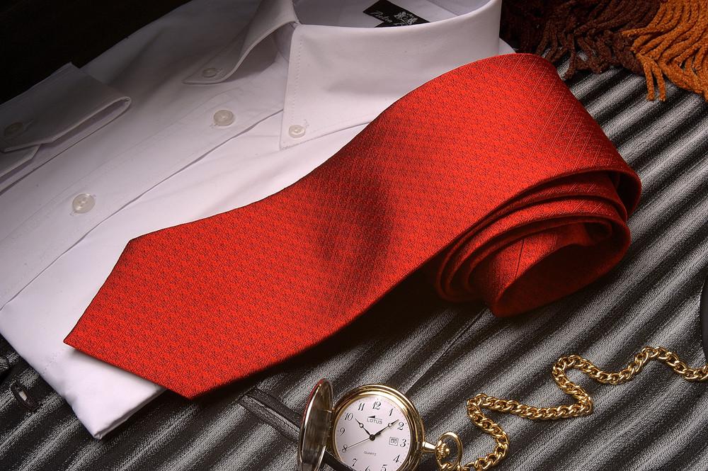 Lotus,Gewebte Seidenjaquard Krawatte mit integriertem Logo des Kunden in der Design Struktur