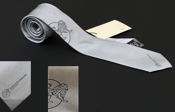 Kirchdorfer Seidenkrawatte mit 2 Logos in gewebter Seide