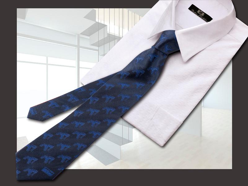 Krause, Gewebte Seidenjaquard Krawatte mit integrierten Leitern Logos und Firmen Namen