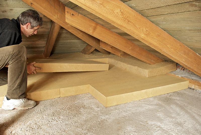 Dämmung Dachboden mit STEICO Dämmplatten
