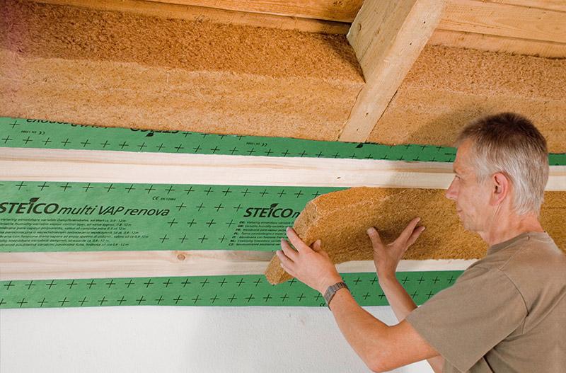 Dachdämmung mit STEICO Holzfaser Dämmstoffen