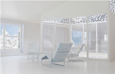 Visualisierung Dachgeschoss - Wohnraum mit Terrasse