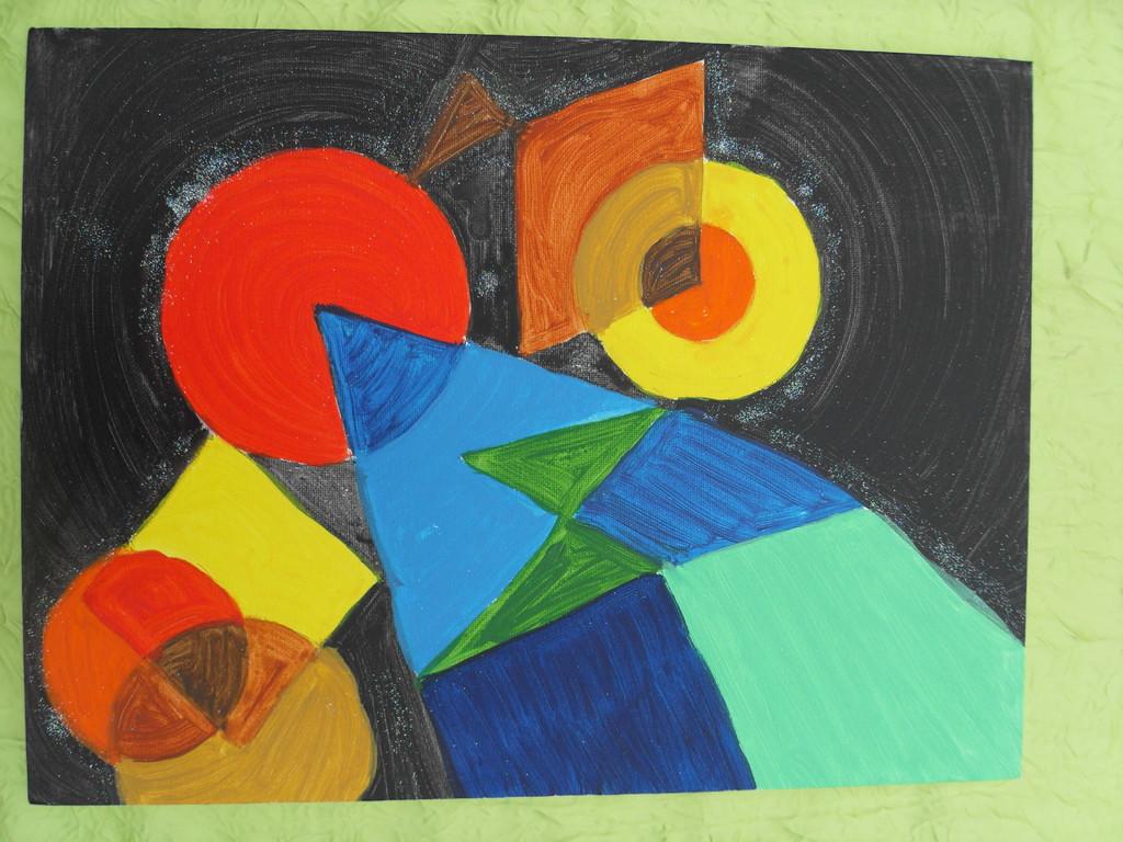 """""""Asymétrie noire"""" peinture sur toile 30x40cm, à l'acrylique, cm, 18/11/11"""