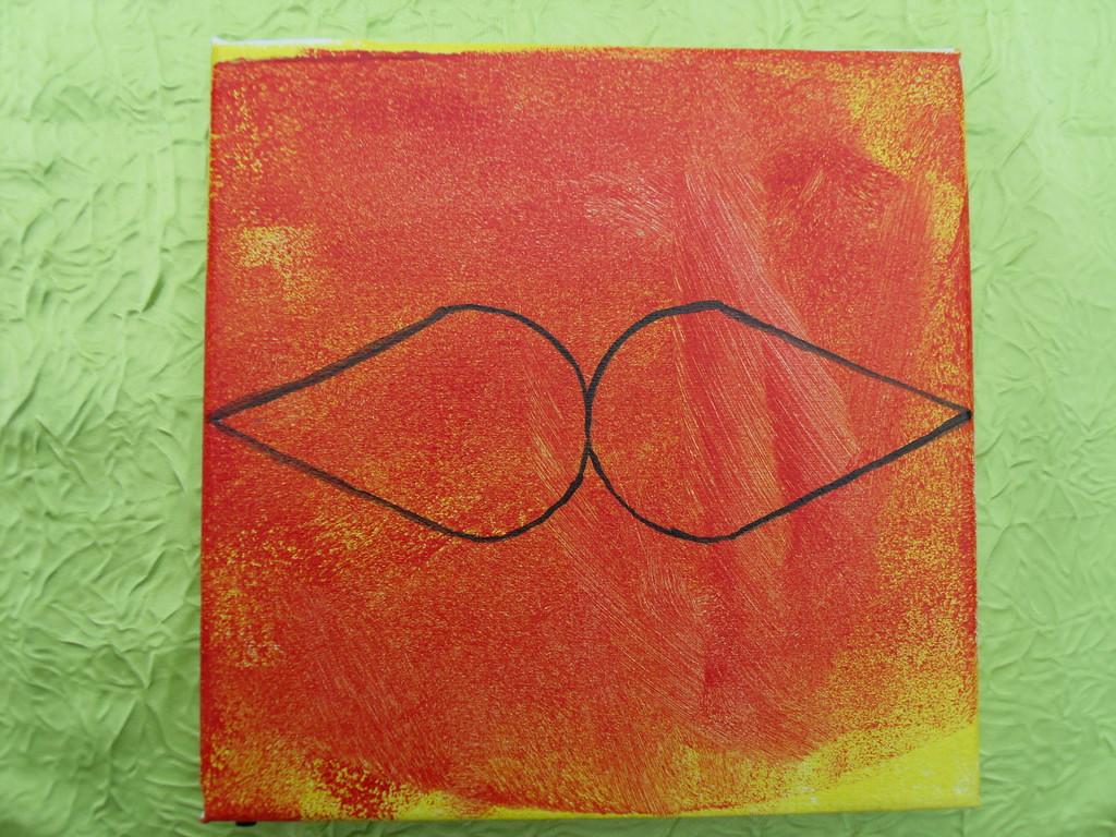 """""""2 gouttes?"""",peinture à l'acrylique 20x20cm,cm le 23/12/11"""