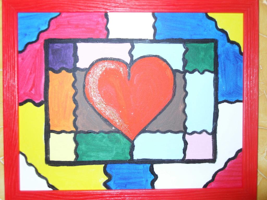 Coeur coloré