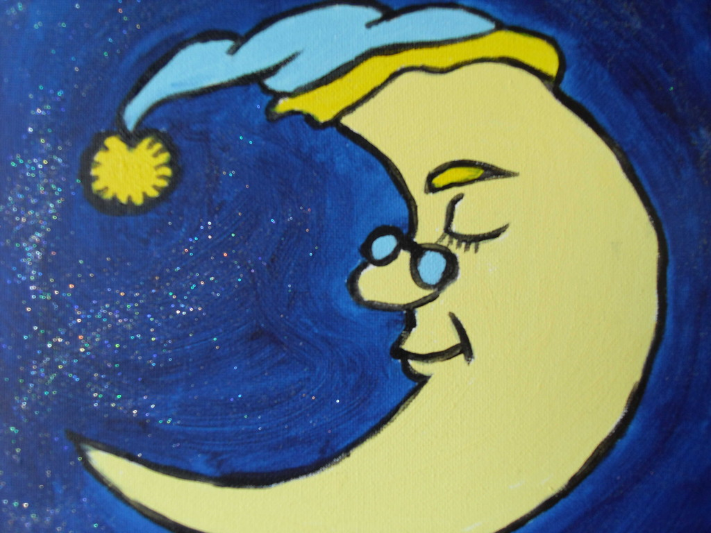La lune pailletée
