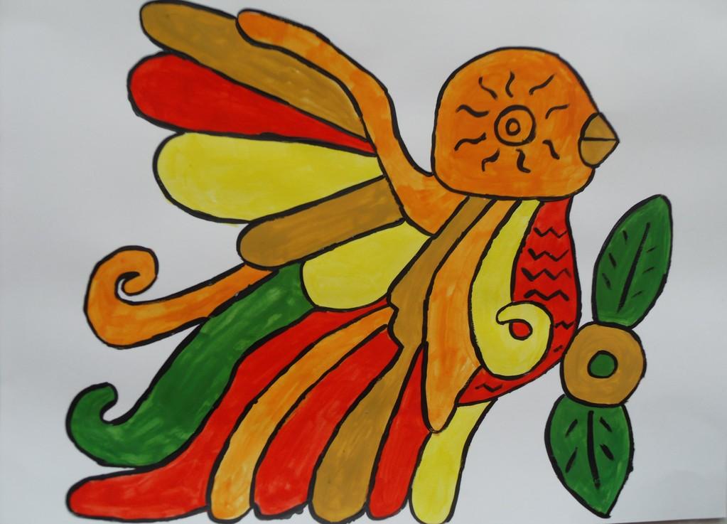 """""""Perroquet coloré"""" cm"""