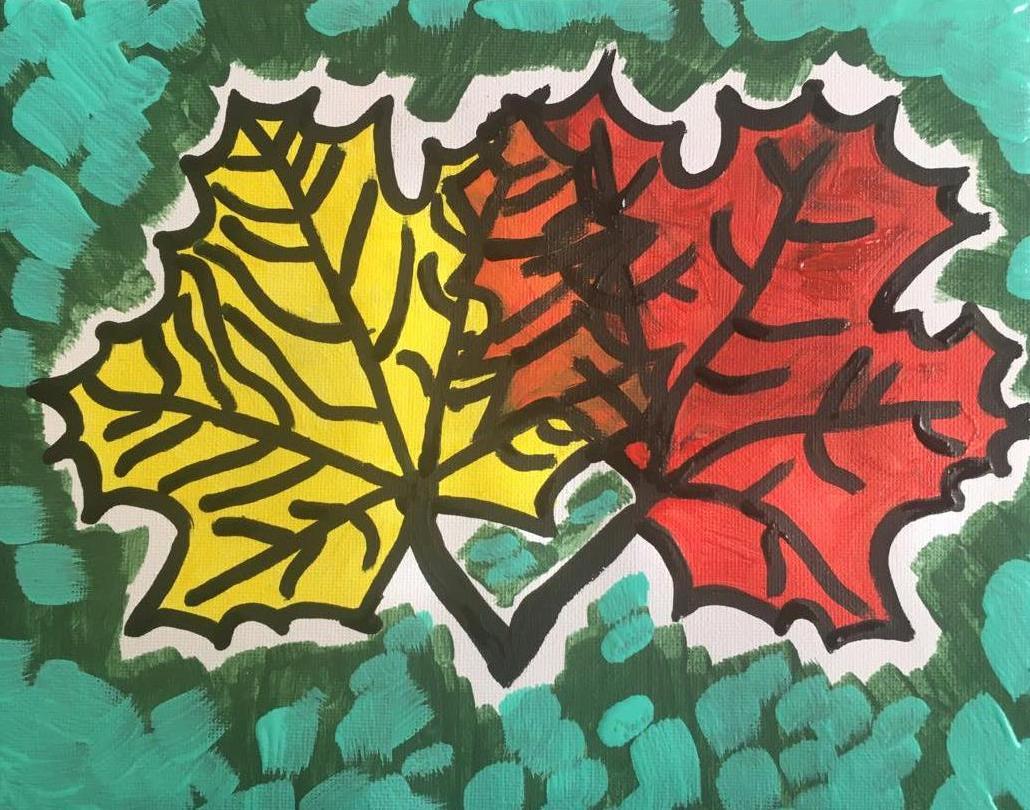 les feuilles d'érable