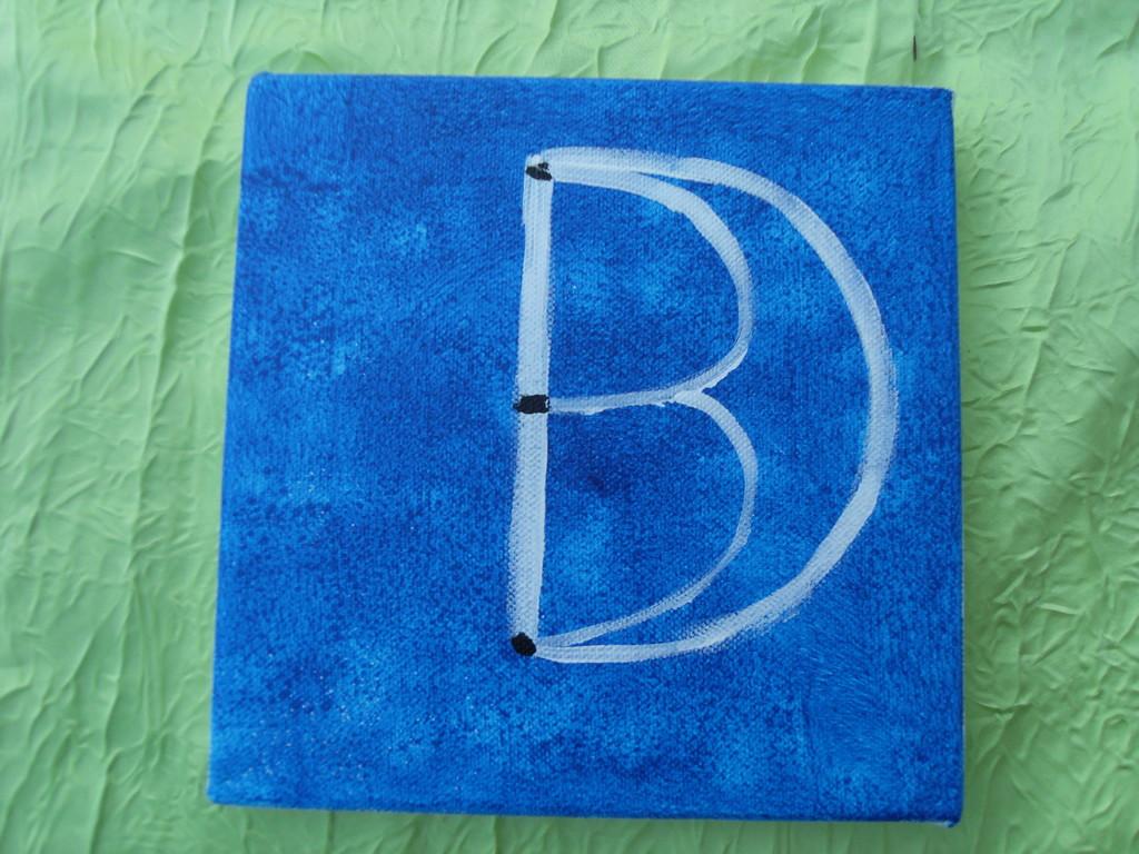 """""""la 3D bleue"""", peinture acrylique sur toile 20x20cm,cm"""