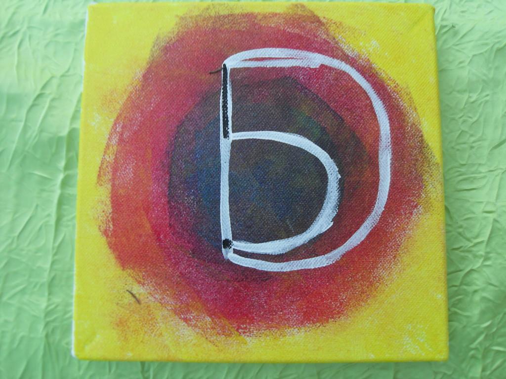 """""""la 5D"""", peinture acrylique sur toile 20c20cm, cm"""