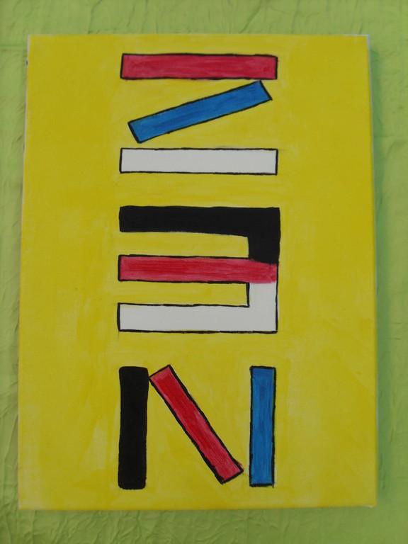 """""""ZEN"""" peinture acrylique sur toile 30x40cm, le 02/01/12, cm"""