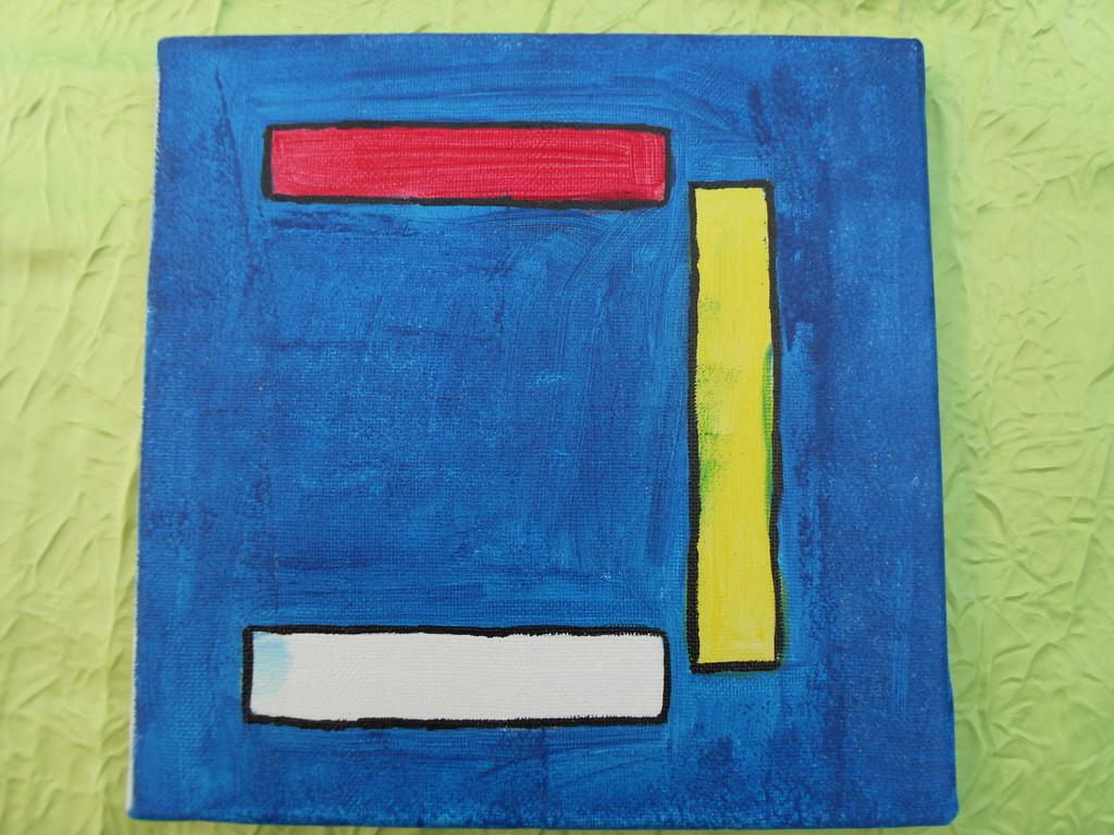 """""""C inversé"""" peinture acrylique sur toile 20x20cm, le 02/01/12, cm"""