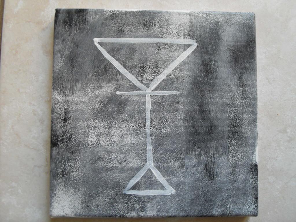 """""""la coupe"""", peinture acrylique sur toile 20x20cm, cm"""