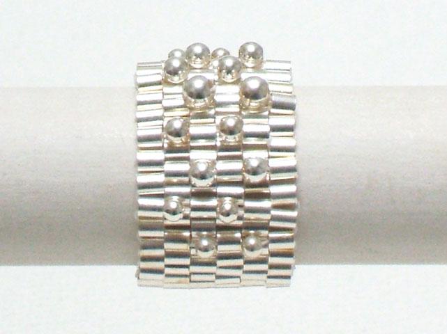 Ring - 925-Silber/Nylon