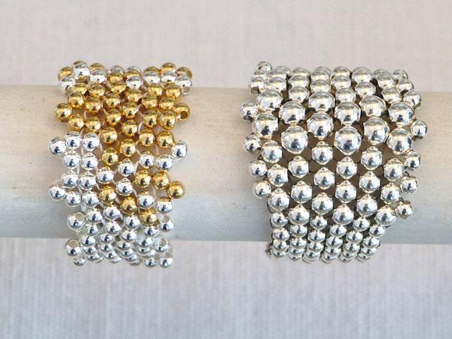 Ringe - 925-Silber/vergoldet/Nylon