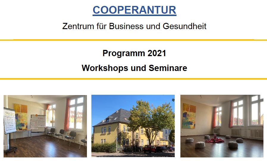 Seminare 1. Quartal 2021 in COOPERANTUR