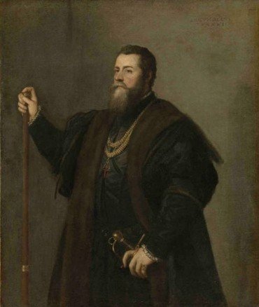Pedro Álvarez de Toledo, Viceroy of Naples. Tiziano - Munchen, Bayerisches Staatsgemaldesammlungen