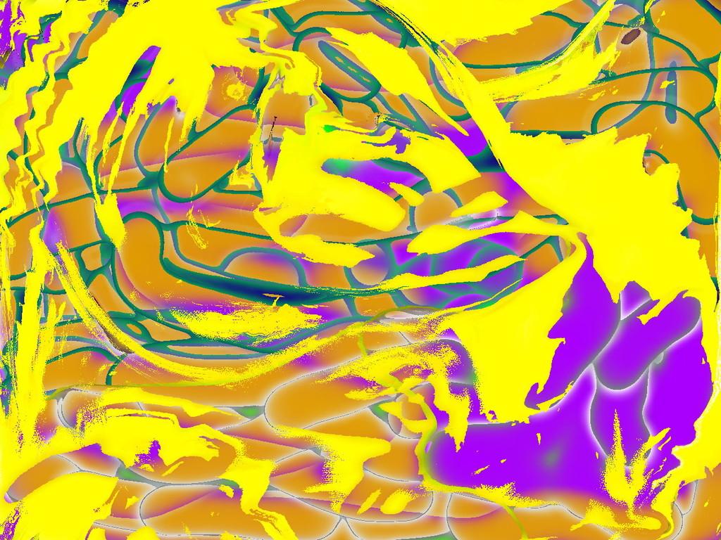 Farbersetzung violett-beige