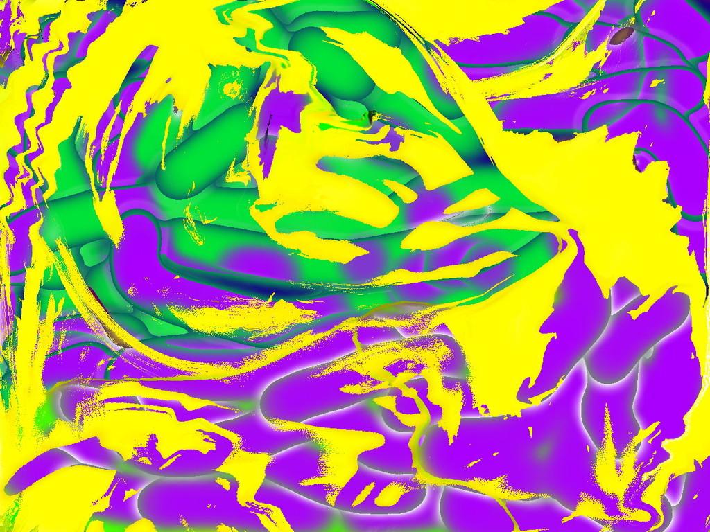 Farbersetzung grün-violett II