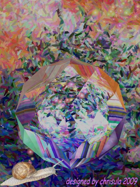 Die Laserschnecke in der Kristallwelt - foto-art 2009