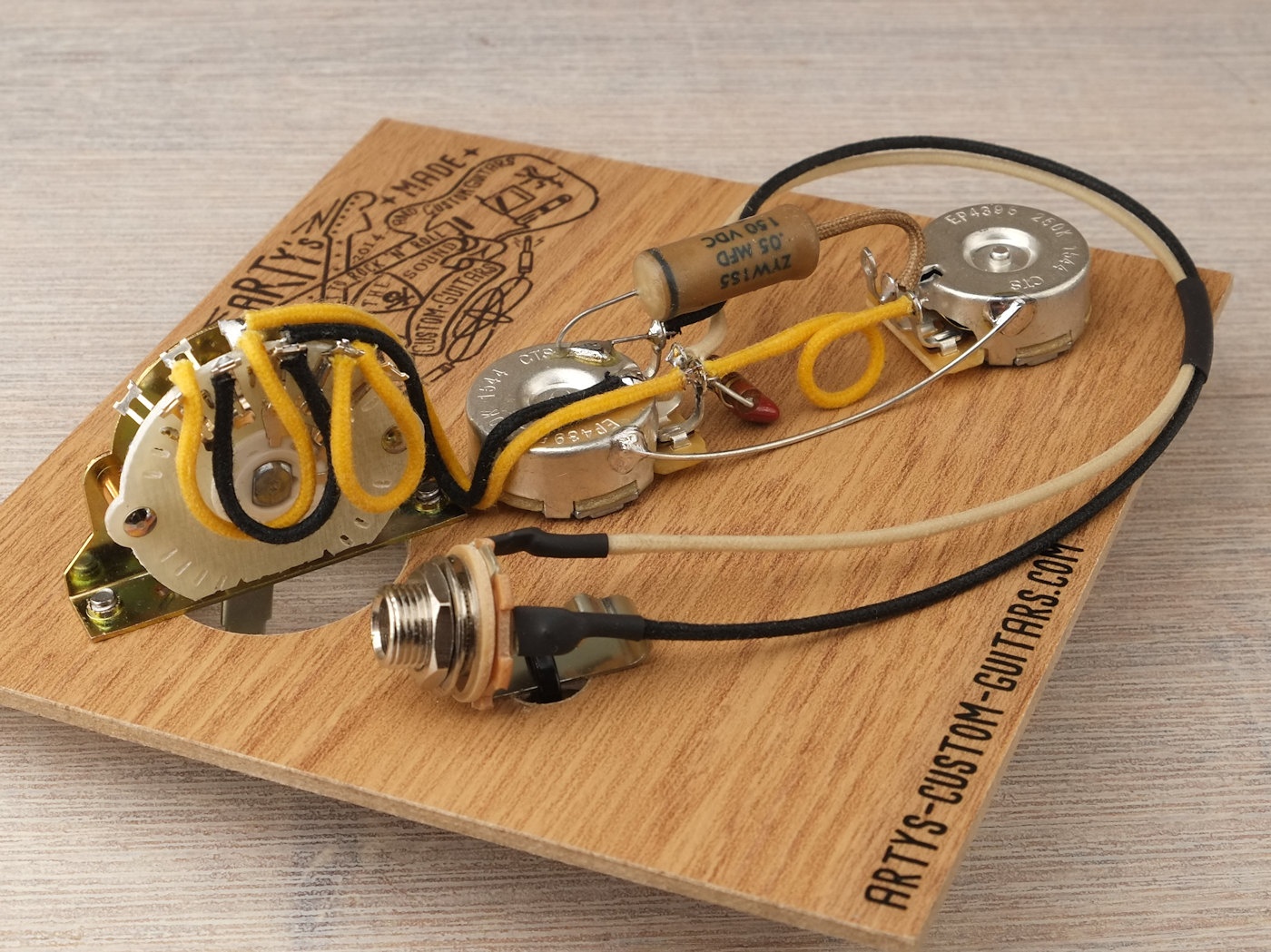 Prewired Harness Telecaster 4 Way Artys Custom Guitars Tele Switch Problems