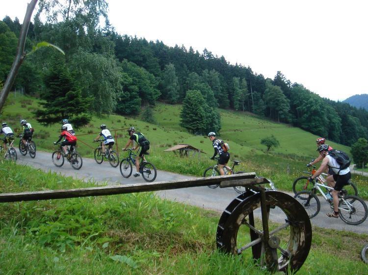 Sportlich auf dem Mountainbike