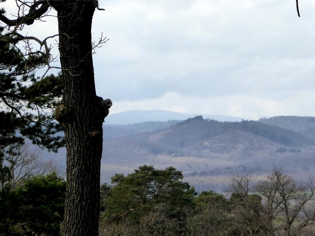 Der Blick nach Westen von der Standfläche aus zum Brocken