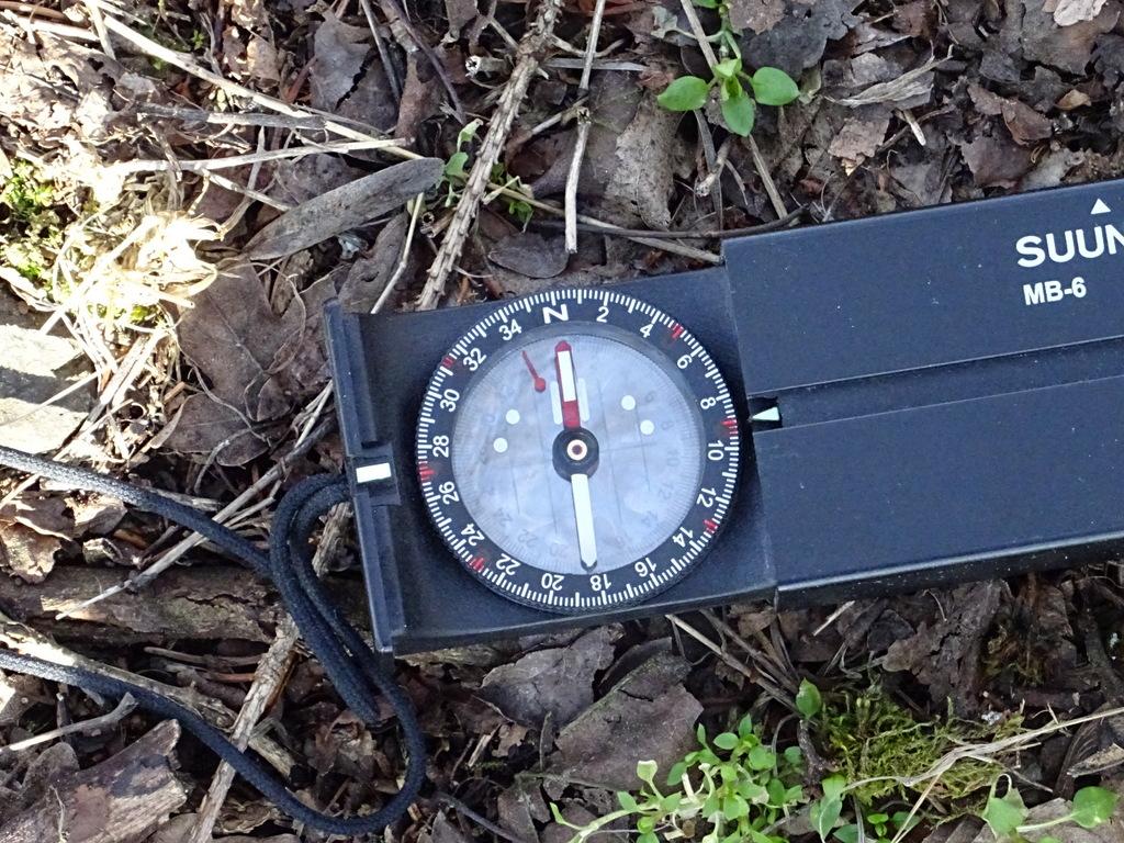 Der Kompass zeigt genau nach Osten