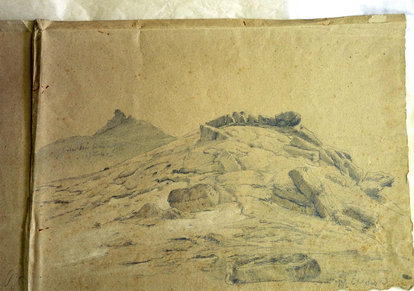Steine in der Nahe des Steinkreises (Skizze von Steuerwald)