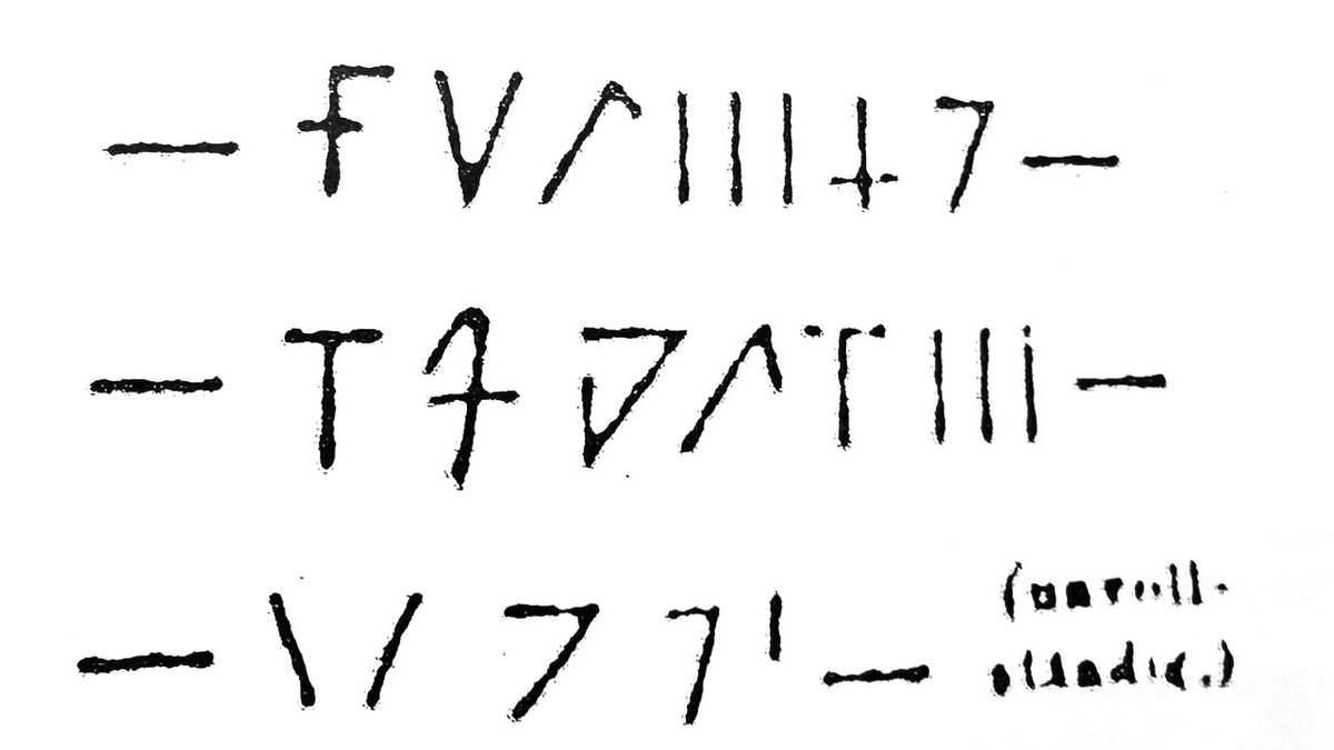 Skizze der Runen? auf dem Mittelstein
