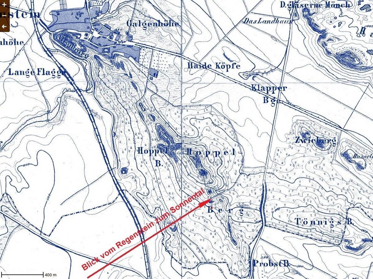 Die Richtung des Sonnenlichtes auf der Karte