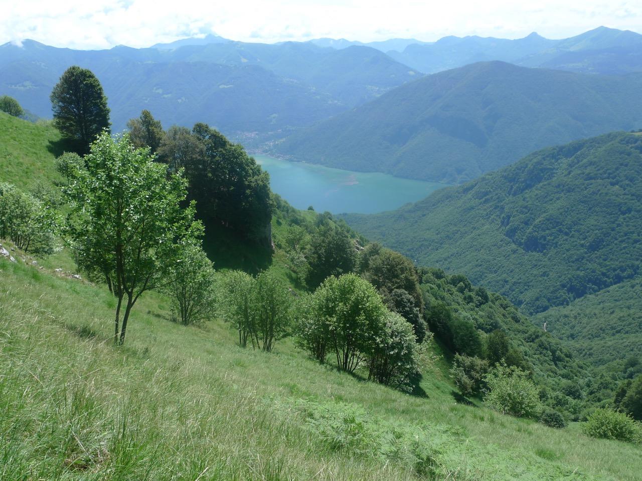 Blick ins Valsolda zum Lago di Lugano