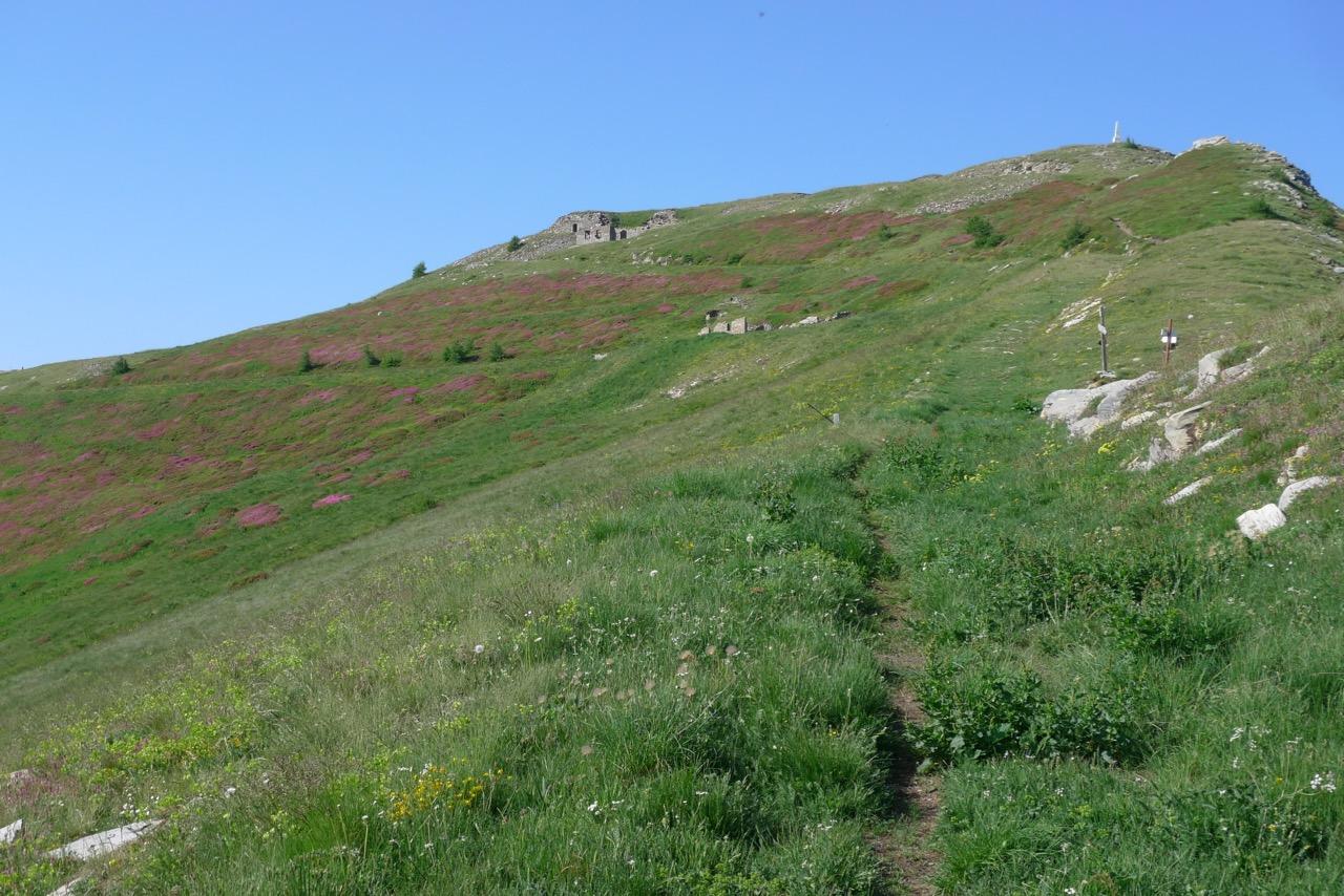 Am Monte Saccarello, dem höchsten Berg von Ligurien
