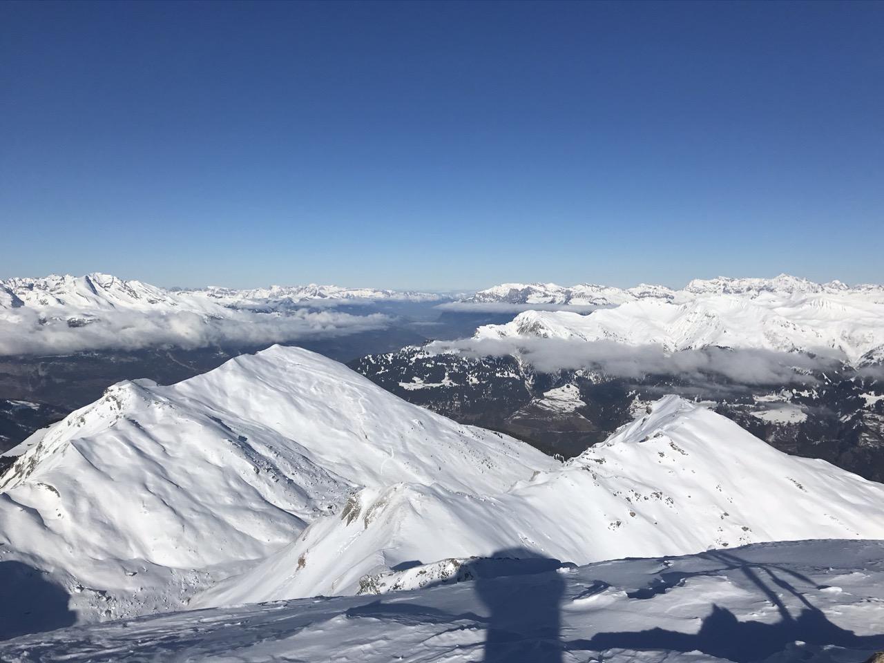 Blick vom Gipfel Richtung Lenzerheide