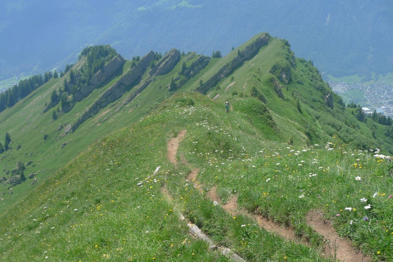 Abstieg vom Federispitz zur Federihütte