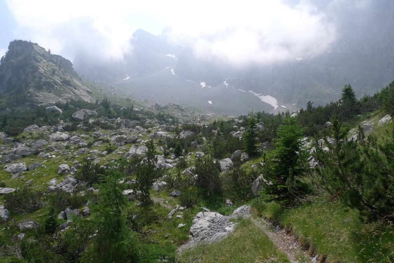 Aufstieg zum Rifugio Garelli