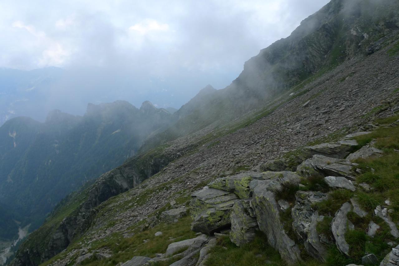 Steile Flanken am Piz di Campedell