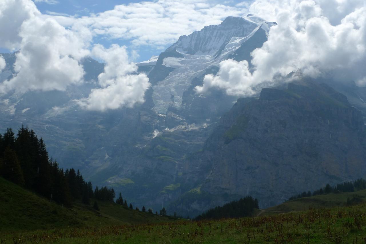 Gewitterwolken an der Jungfrau
