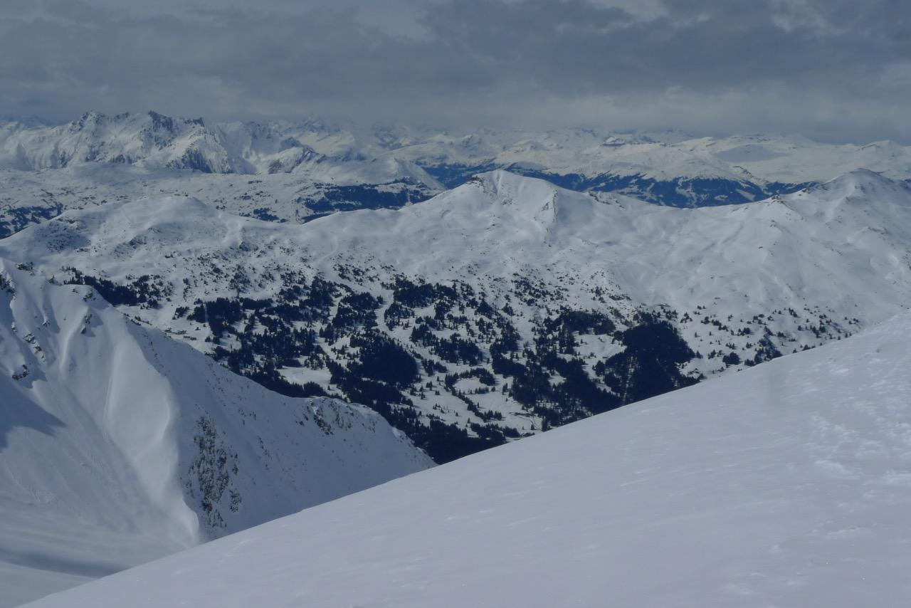 Blick ins Skigebiet Valbella - Stätzerhorn
