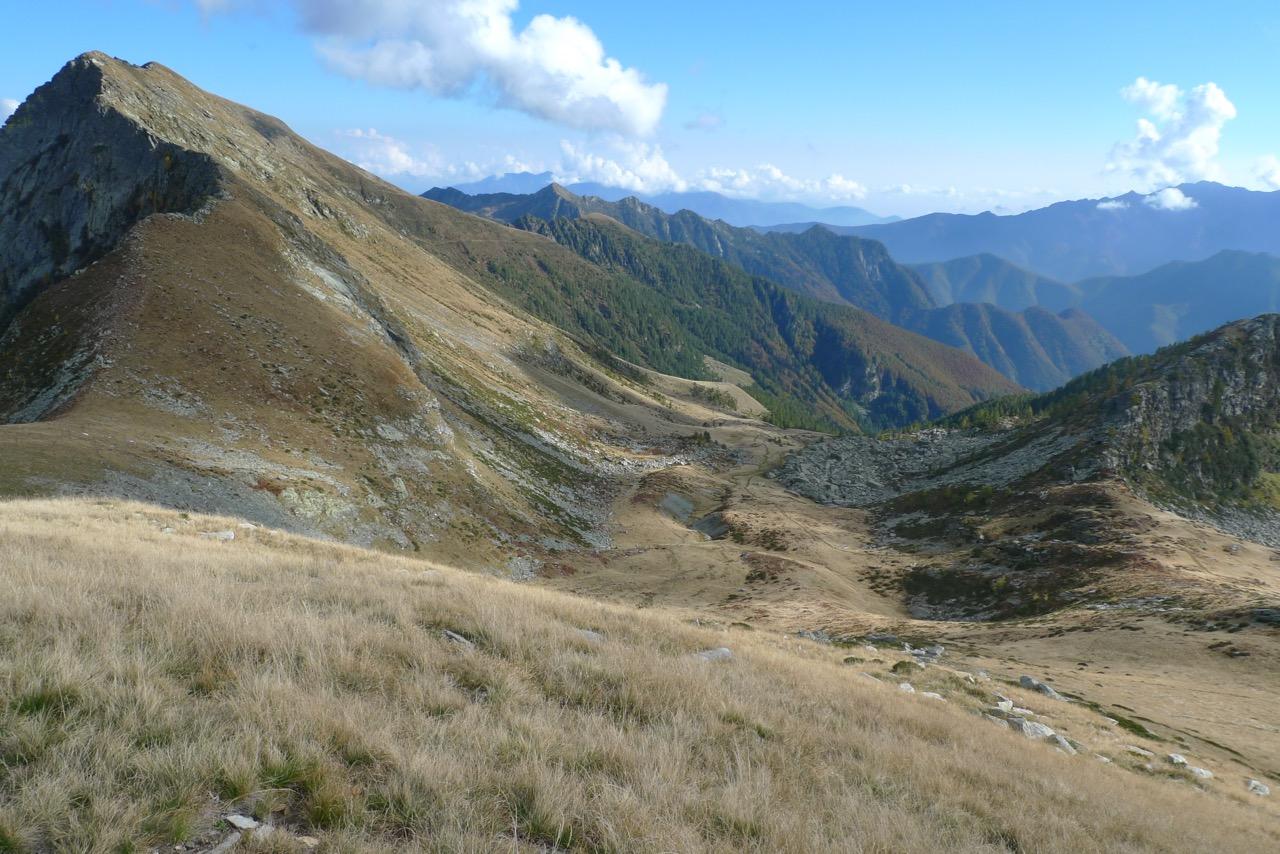 Blick vom Cramalina zurück zur Aufstiegsroute