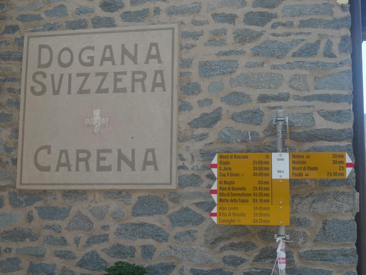 Das alte Zollhaus in Carena