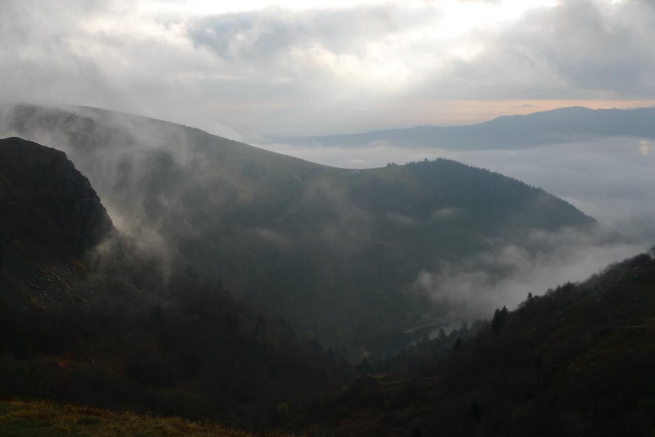 Aussicht vom Le Hohneck Richtung Oberrheinische Tiefebene