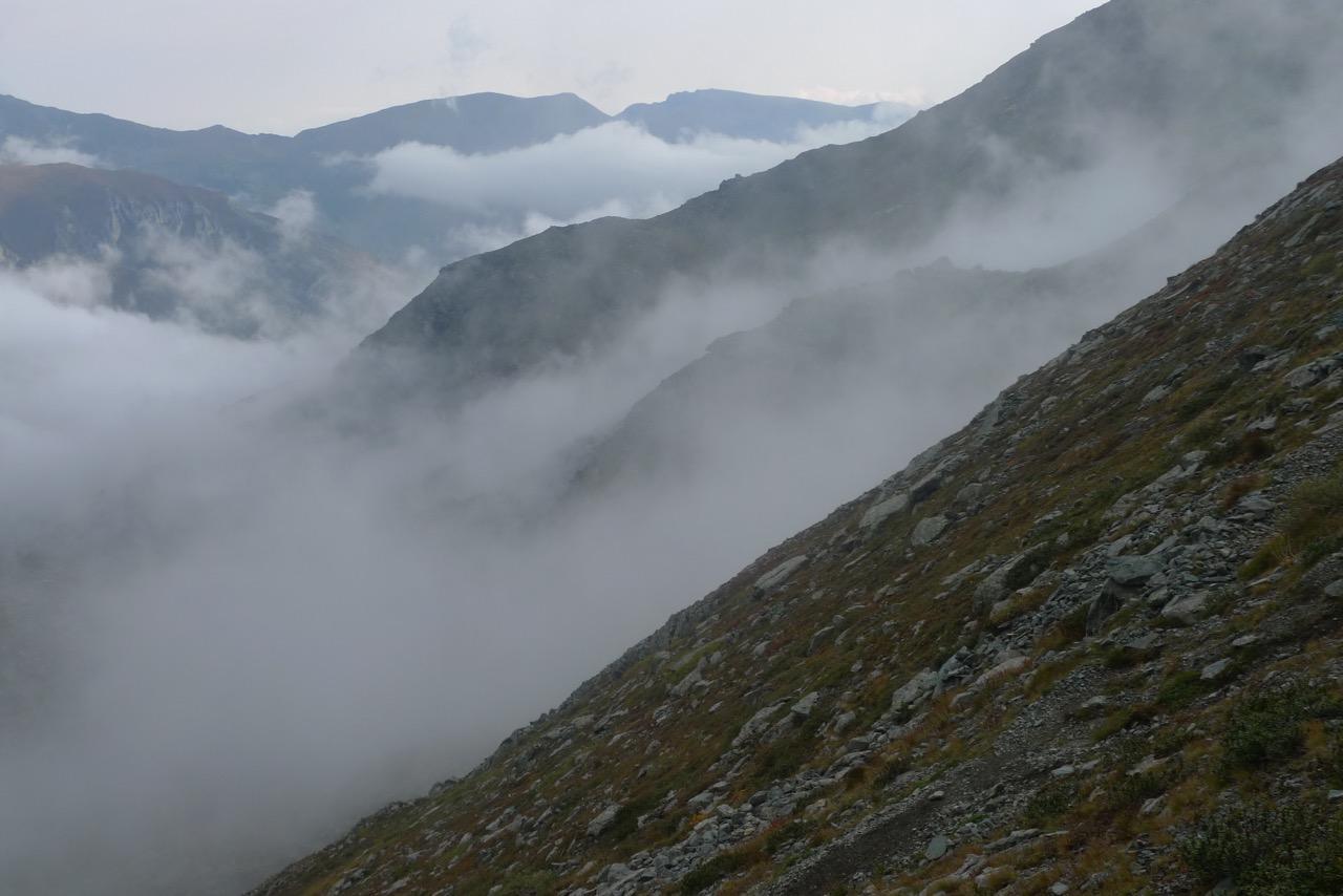 Wolken aus der Poebene ziehen auf