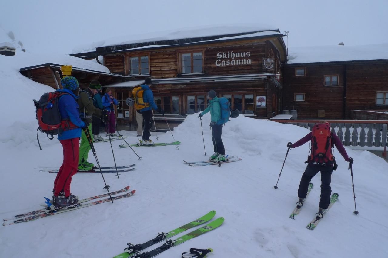 Ankunft beim Skihaus Casanna